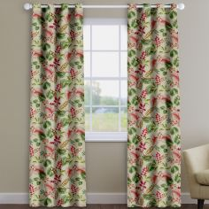 Fandango Cassis Purple Tropical Floral Made To Measure Curtains