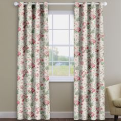 Hampton Ruby Red Traditional Floral Made To Measure Curtains