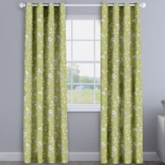 Etched Fern Green Delicate Floral Made To Measure Curtains