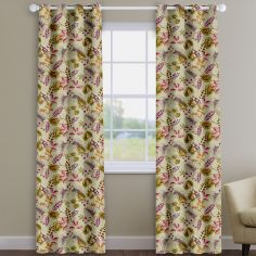 Fandango Cranberry Red Tropical Floral Made To Measure Curtains