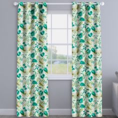 Fandango Lagoon Green Tropical Floral Made To Measure Curtains