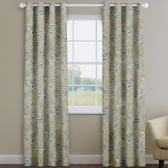 Rosamund Barley Beige Floral  Made To Measure Curtains