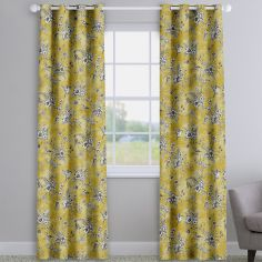 Rosamund Buttercup Yellow Floral Made To Measure Curtains