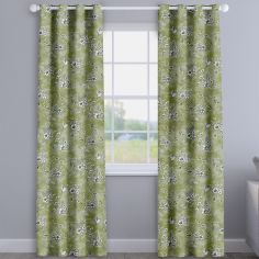 Rosamund Willow Green Floral Made To Measure Curtains