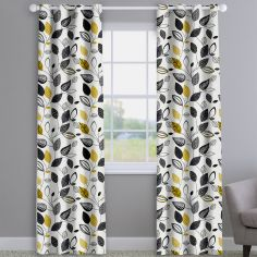 Autumn Fall Noir Black Made To Measure Curtains