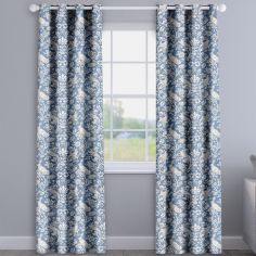 Moorland Indigo Blue Made To Measure Curtains