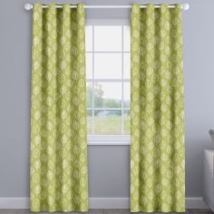 Kato Zest Green Modern Leaves Made To Measure Curtains