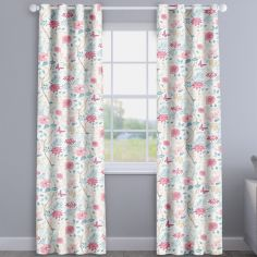 Amazon Delft Blue Floral Made To Measure Curtains