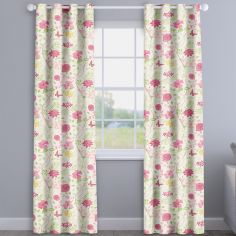 Amazon Fuchsia Pink Floral Made To Measure Curtains