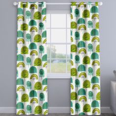 Scandi Wood Kiwi Green Modern Made To Measure Curtains