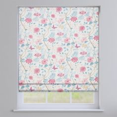 Amazon Delft Blue Floral Roman Blind