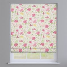 Amazon Fuchsia Pink Floral Roman Blind