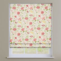 Amazon Paprika Red Floral Roman Blind