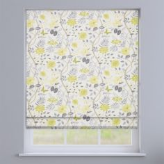 Amazon Slate Grey Floral Roman Blind
