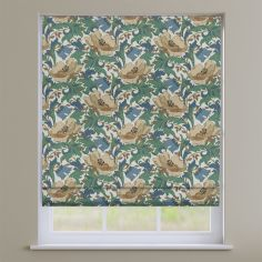 Decorama Cobalt Blue Floral Roman Blind
