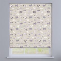 Baa Baa Sheep Lavender Purple Roman Blind