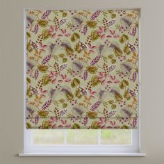 Fandango Cranberry Red Tropical Floral Roman Blind
