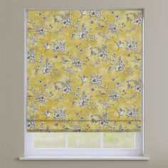 Rosamund Buttercup Yellow Floral Roman Blind