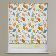 Autumn Fall Tangerine Orange Roman Blind