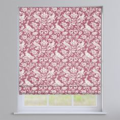 Moorland Floral Animals Elderberry Red Roman Blind