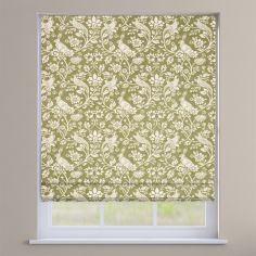 Moorland Floral Animals Moss Green Roman Blind