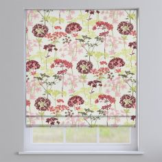 Hedgerow Floral Magenta Roman Blind