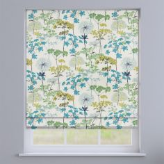 Hedgerow Floral Pistachio Green Roman Blind