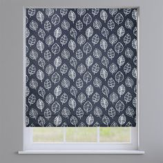 Kato Slate Grey Modern Leaves Roman Blind