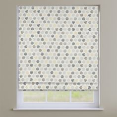 Laurel Charcoal Grey Modern Geometric Roman Blind