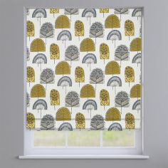 Scandi Wood Ochre Yellow Modern Roman Blind