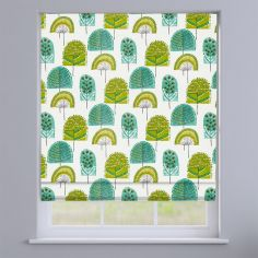 Scandi Wood Kiwi Green Modern Roman Blind