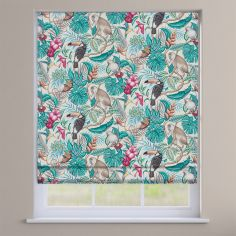 Rainforest Cassis Purple Exotic Animals Roman Blind