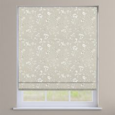 Etched Sandstone Cream Delicate Floral Roman Blind