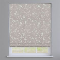 Etched Wild Rose Pink Delicate Floral Roman Blind