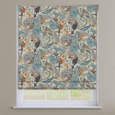 Rainforest Henna Multi Exotic Animals Roman Blind