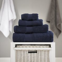Bliss Pima 100% Cotton 650gsm Bathroom Towel - Navy