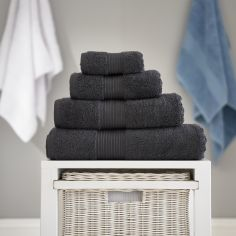 Bliss Pima 100% Cotton 650gsm Bathroom Towel - Steel Grey
