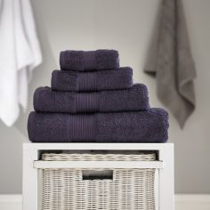 Bliss Pima 100% Cotton 650gsm Bathroom Towel - Aubergine Purple