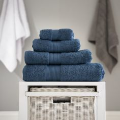 Bliss Pima 100% Cotton 650gsm Bathroom Towel - Petrol Blue
