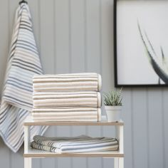 Hanover Striped 100% Cotton 550GSM Towel - Natural