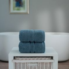 Chelsea 100% Cotton 600GSM Towel - Ocean Blue