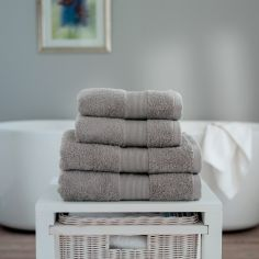 Cleopatra 100% Cotton 650GSM Towel - Silver Grey