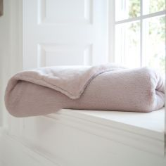 Bolingbroke Soft Fleece Throw - Pink
