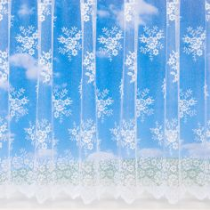 Esther Floral White Net Curtain
