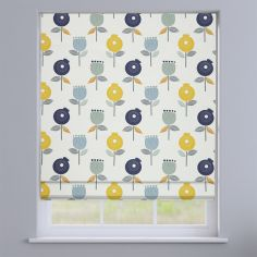 Pomegranate Ochre Yellow Modern Floral Roman Blind