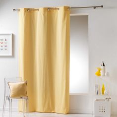 Galactic 100% Cotton Simple Geometric Ready Made Single Eyelet Curtain Panel - Yellow