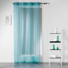 Galactic Simple Geometric Voile Panel - Mint Green