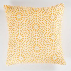Tunis Geometric Flannel Cushion Cover - Yellow
