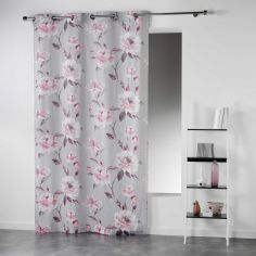 Cleo Garden Roses Floral Ready Made Single Eyelet Curtain Panel  - Pink
