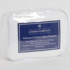 Pair of Waterproof Pillow Protectors with Microfibre Front